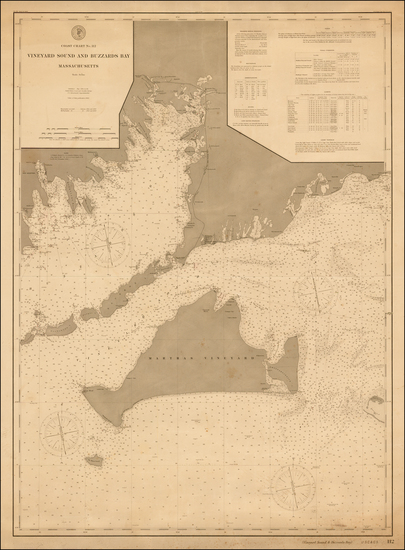 36-Massachusetts Map By U.S. Coast & Geodetic Survey
