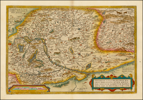 11-Austria, Hungary, Romania and Balkans Map By Abraham Ortelius