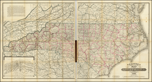 55-Southeast and North Carolina Map By A. Webster Shaffer