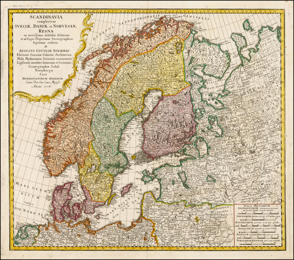 27-Scandinavia Map By Homann Heirs