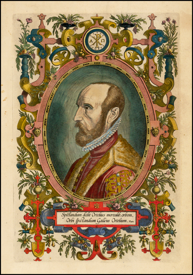 56-Portraits & People Map By Abraham Ortelius