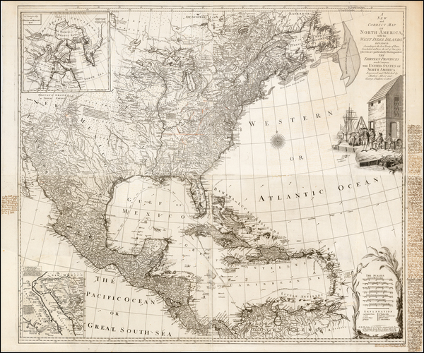 United States and North America Map By Tobias Conrad Lotter