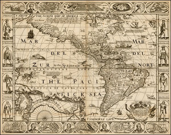South America and America Map By Robert Walton