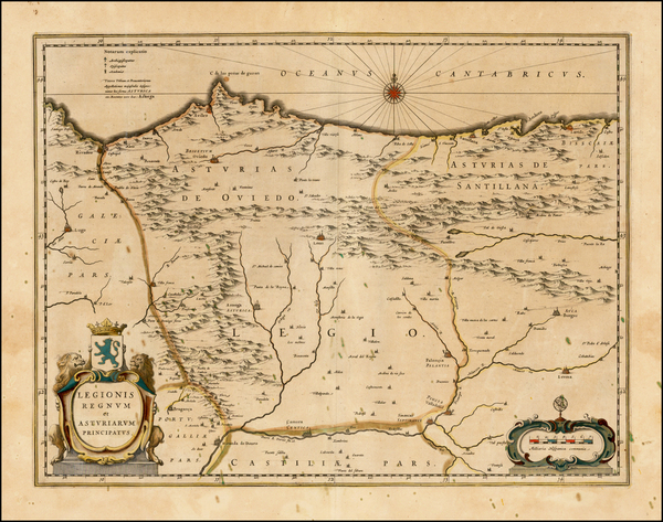 27-Spain Map By Willem Janszoon Blaeu