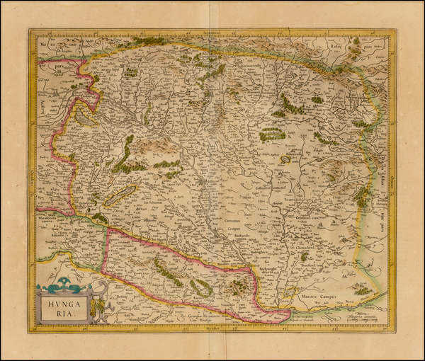 Hungary Map By  Gerard Mercator