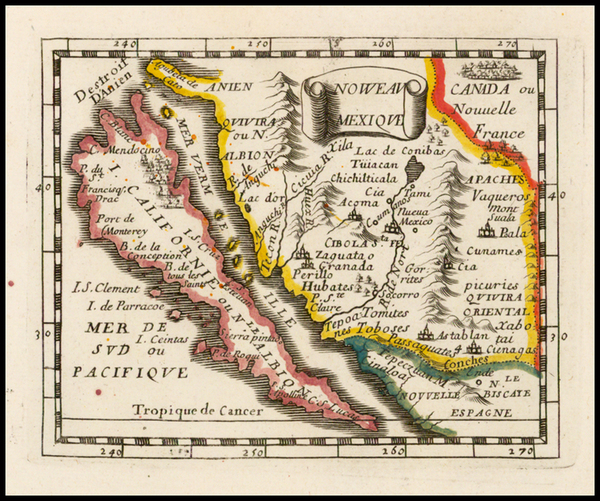 88-Southwest, Baja California and California Map By Pierre Du Val