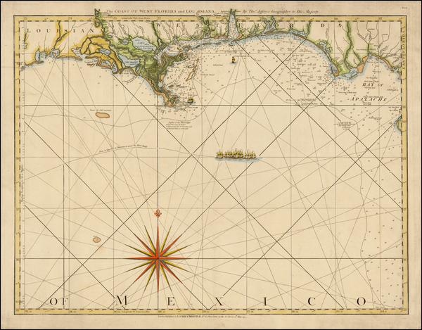 46-South and Louisiana Map By Thomas Jefferys