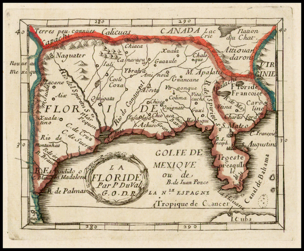 67-Florida, South and Southeast Map By Pierre Du Val