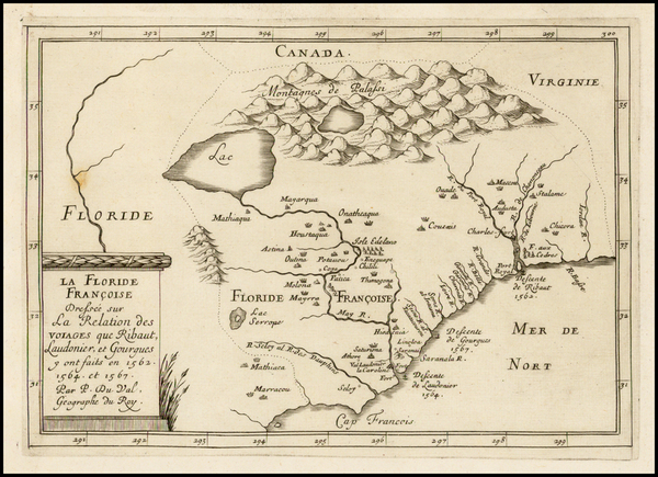 21-Florida and Southeast Map By Pierre Du Val