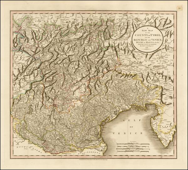 18-Austria, Balkans and Italy Map By John Cary