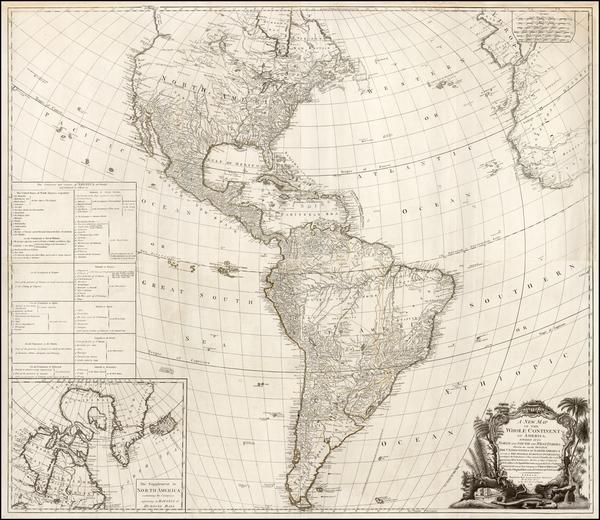 64-America Map By Robert Sayer  &  Richard Bennett
