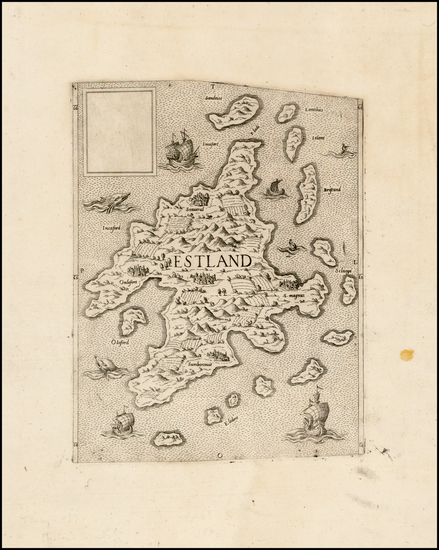 14-British Isles and Scotland Map By Anonymous / Lafreri School