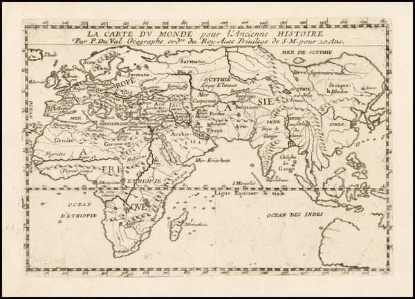 70-World, World, Eastern Hemisphere, Indian Ocean, Asia, Asia, Africa and Africa Map By Pierre Du