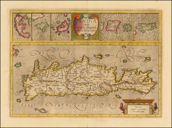 87-Greece and Mediterranean Map By Gerard Mercator