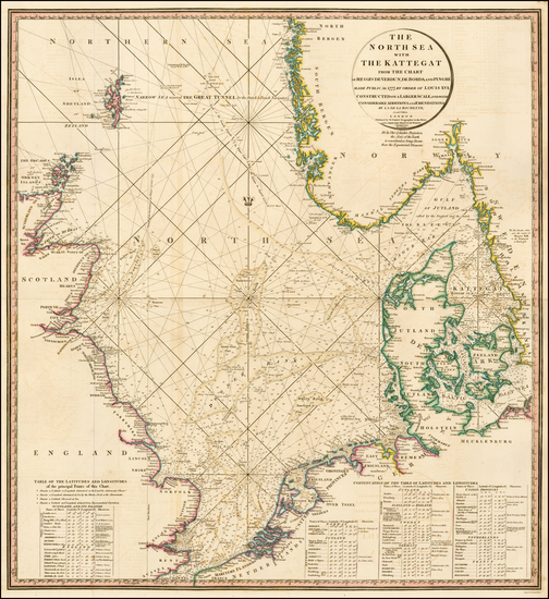 British Isles, Netherlands, Germany, Baltic Countries and Scandinavia Map By William Faden