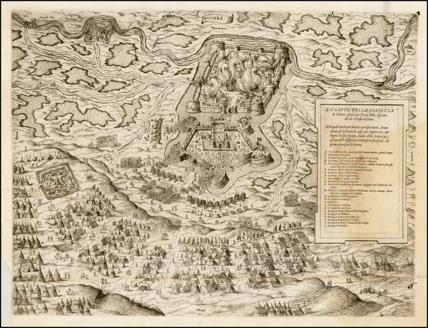 45-France Map By Anonymous / Lafreri School