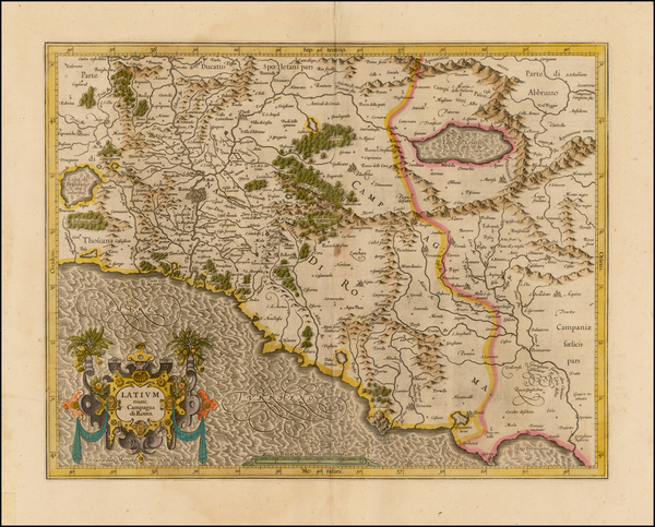 71-Italy Map By  Gerard Mercator