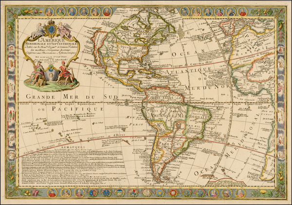 81-South America and America Map By Guillaume Danet