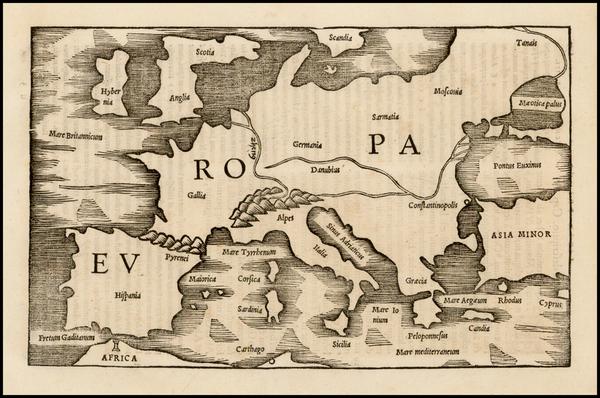 50-Europe Map By Caius Julius Solinus