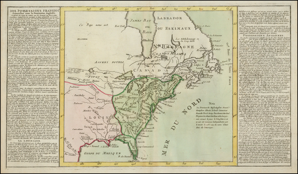 36-United States and American Revolution Map By Jean Baptiste Louis Clouet
