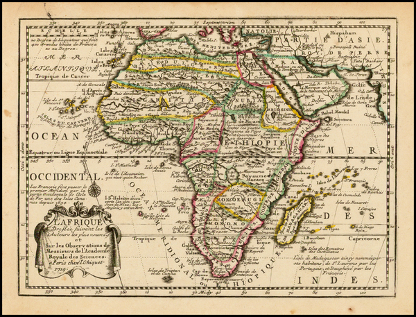 Africa and Africa Map By Jacques Chiquet