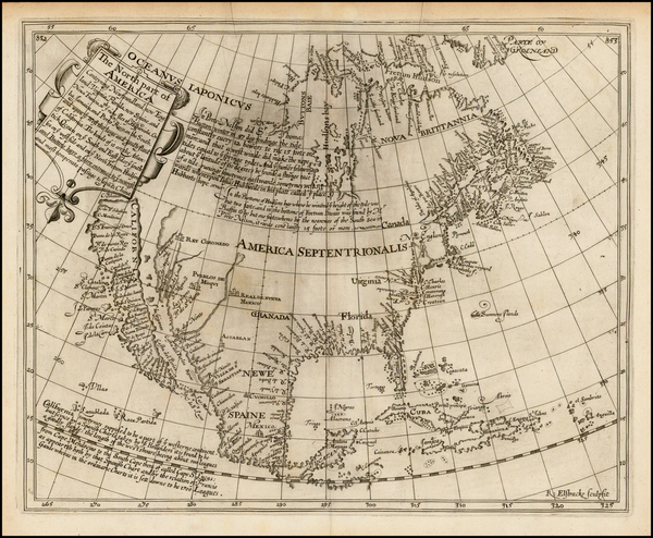 63-United States, Southeast, North America and California Map By Henry Briggs
