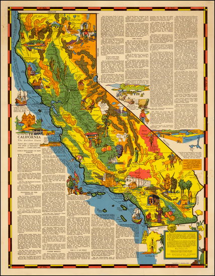 68-California Map By R.T. Aitchison