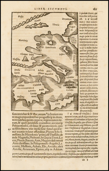 66-Greece Map By Caius Julius Solinus