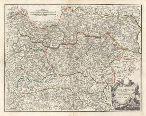 22-Europe and Austria Map By Gilles Robert de Vaugondy