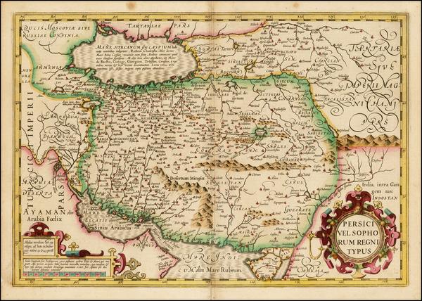 44-Persia Map By Jodocus Hondius