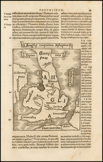 58-British Isles Map By Caius Julius Solinus