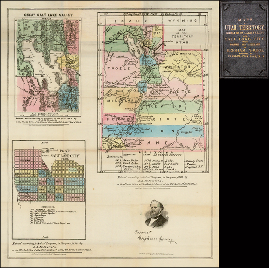 77-Southwest, Rocky Mountains and Utah Map By B.A.M. Froiseth