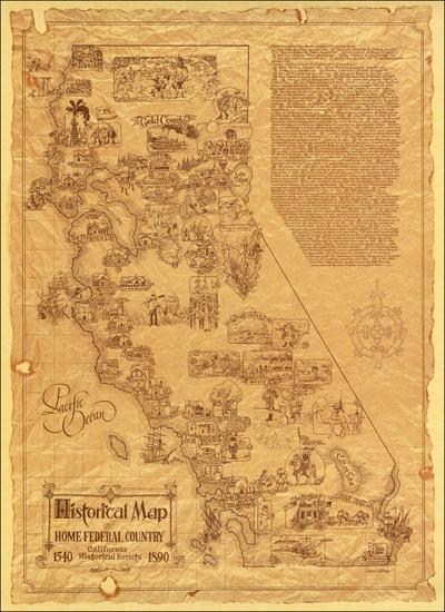 18-California Map By Darrel Millsap