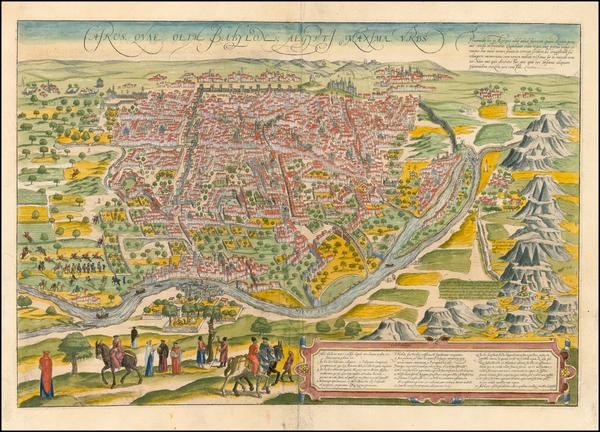 5-Egypt Map By Georg Braun  &  Frans Hogenberg