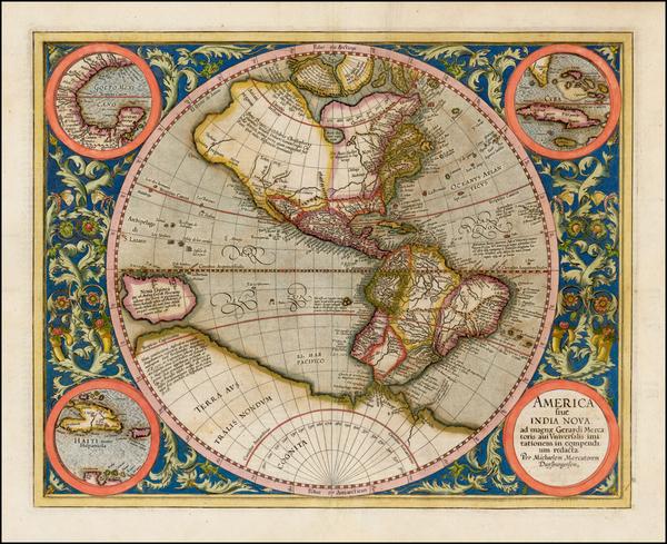 5-Western Hemisphere, South America and America Map By Michael Mercator