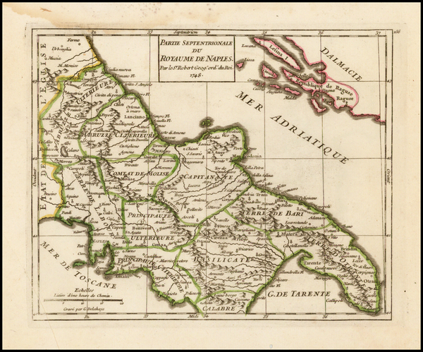 7-Italy and Southern Italy Map By Didier Robert de Vaugondy