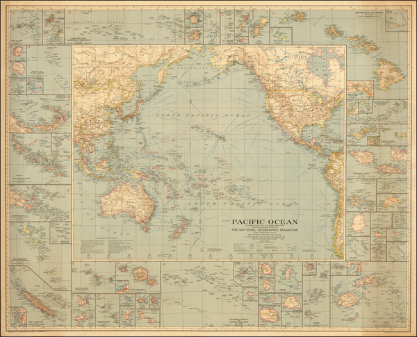 55-Hawaii, Australia & Oceania, Pacific, Oceania, Hawaii and Other Pacific Islands Map By