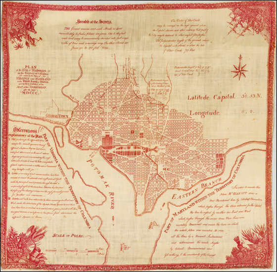 96-Washington, D.C. Map By Samuel Hill / I.L. Philips & Brothers / Andrew Ellicott
