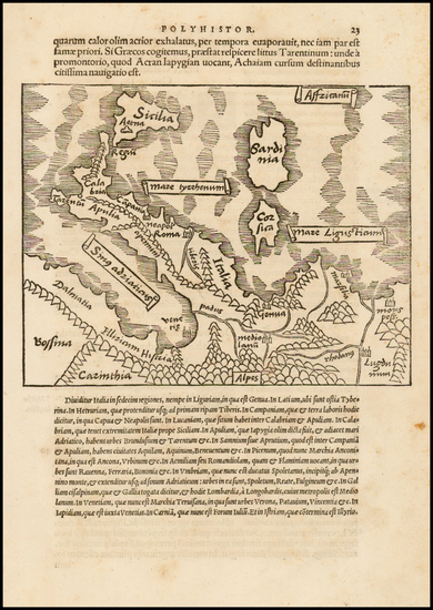 99-Italy and Balearic Islands Map By Caius Julius Solinus
