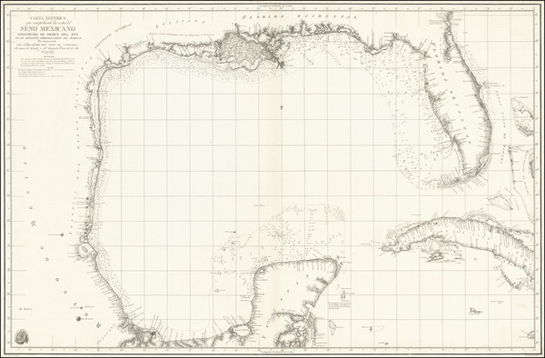 19-Florida, South, Southeast, Texas and Caribbean Map By Direccion Hidrografica de Madrid