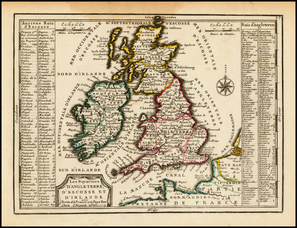 British Isles Map By Jacques Chiquet