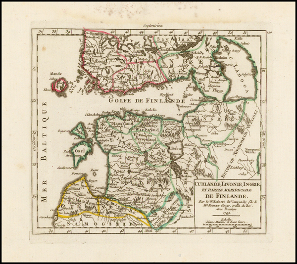 69-Baltic Countries and Scandinavia Map By Gilles Robert de Vaugondy