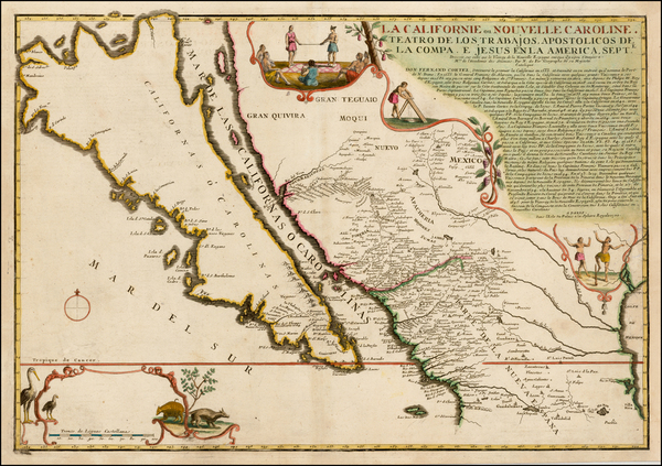 49-Southwest, Mexico, Baja California, California and California as an Island Map By Nicolas de Fe