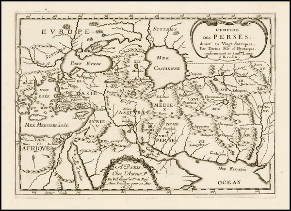 99-Central Asia & Caucasus, Middle East and Persia Map By Pierre Du Val