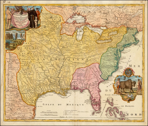 4-United States, South, Southeast, Texas, Midwest, Plains and Southwest Map By Johann Baptist Hom