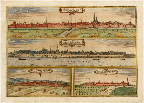 92-Germany Map By Georg Braun  &  Frans Hogenberg