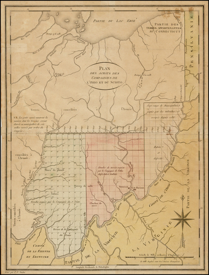 7-Midwest and Ohio Map By Pierre Antoine Tardieu