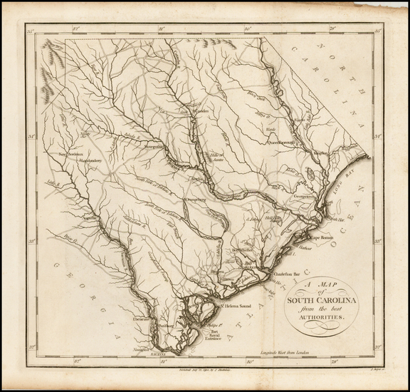 48-Southeast and South Carolina Map By John Stockdale