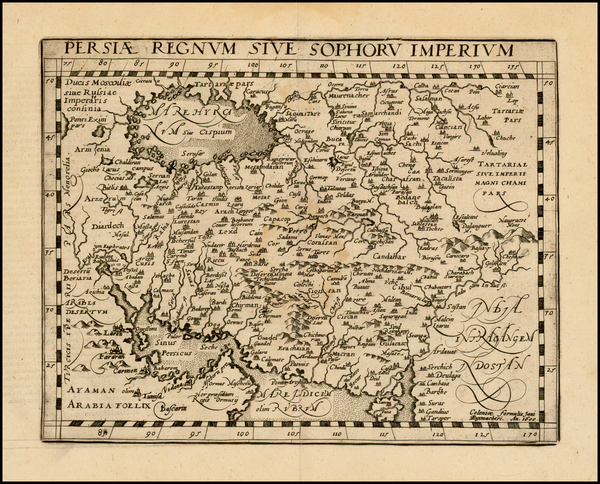 85-Central Asia & Caucasus, Middle East and Persia Map By Matthias Quad / Johann Bussemachaer