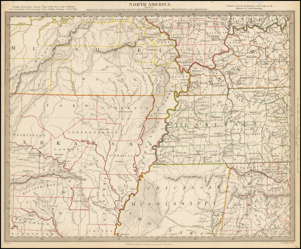 18-South, Alabama, Arkansas, Kentucky, Tennessee and Missouri Map By SDUK